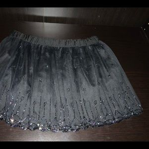 M Brand Black Frilled Skirt with Adornments Size M